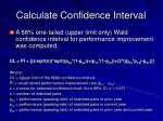 calculate confidence interval