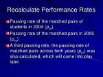 recalculate performance rates