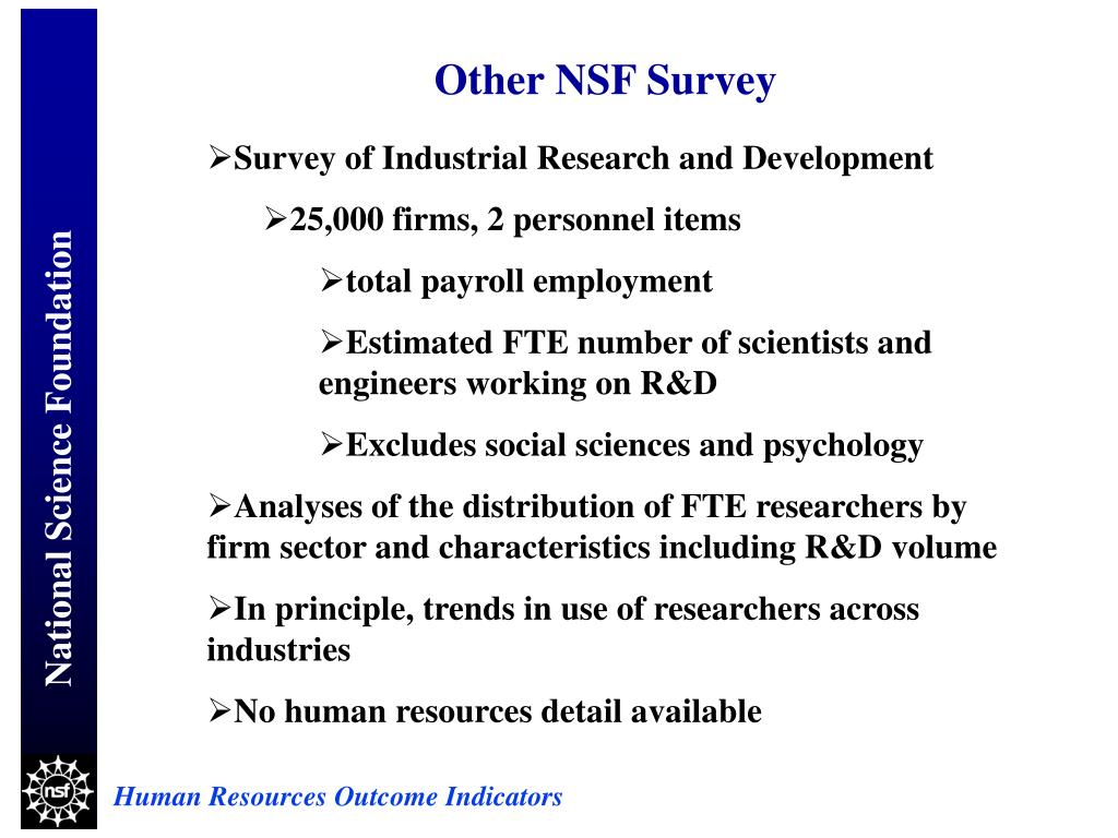 Other NSF Survey