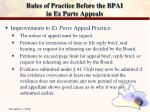 rules of practice before the bpai in ex parte appeals2