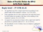 rules of practice before the bpai in ex parte appeals21