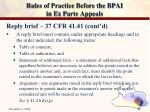 rules of practice before the bpai in ex parte appeals22