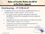 rules of practice before the bpai in ex parte appeals25