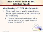 rules of practice before the bpai in ex parte appeals26
