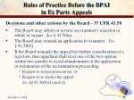 rules of practice before the bpai in ex parte appeals29