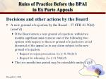 rules of practice before the bpai in ex parte appeals30
