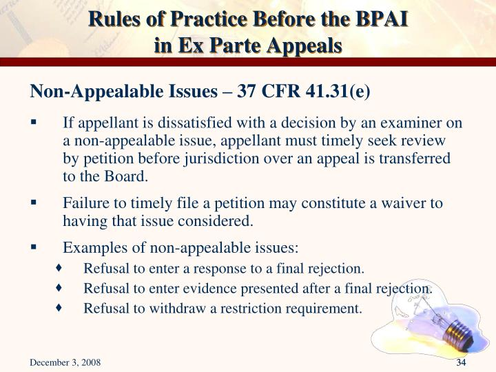 Rules of Practice Before the BPAI