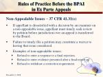 rules of practice before the bpai in ex parte appeals33