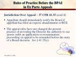 rules of practice before the bpai in ex parte appeals6