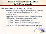 rules of practice before the bpai in ex parte appeals8