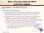 rules of practice before the bpai in ex parte appeals9