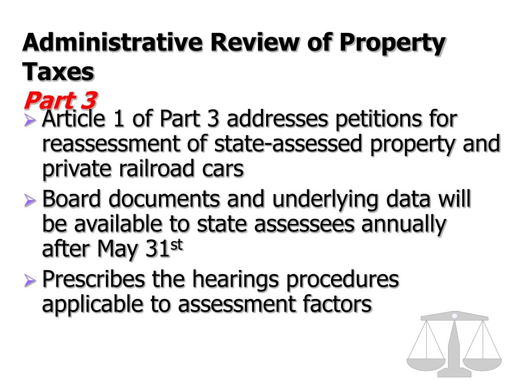Administrative Review of Property Taxes