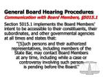 general board hearing procedures communication with board members 5015 1