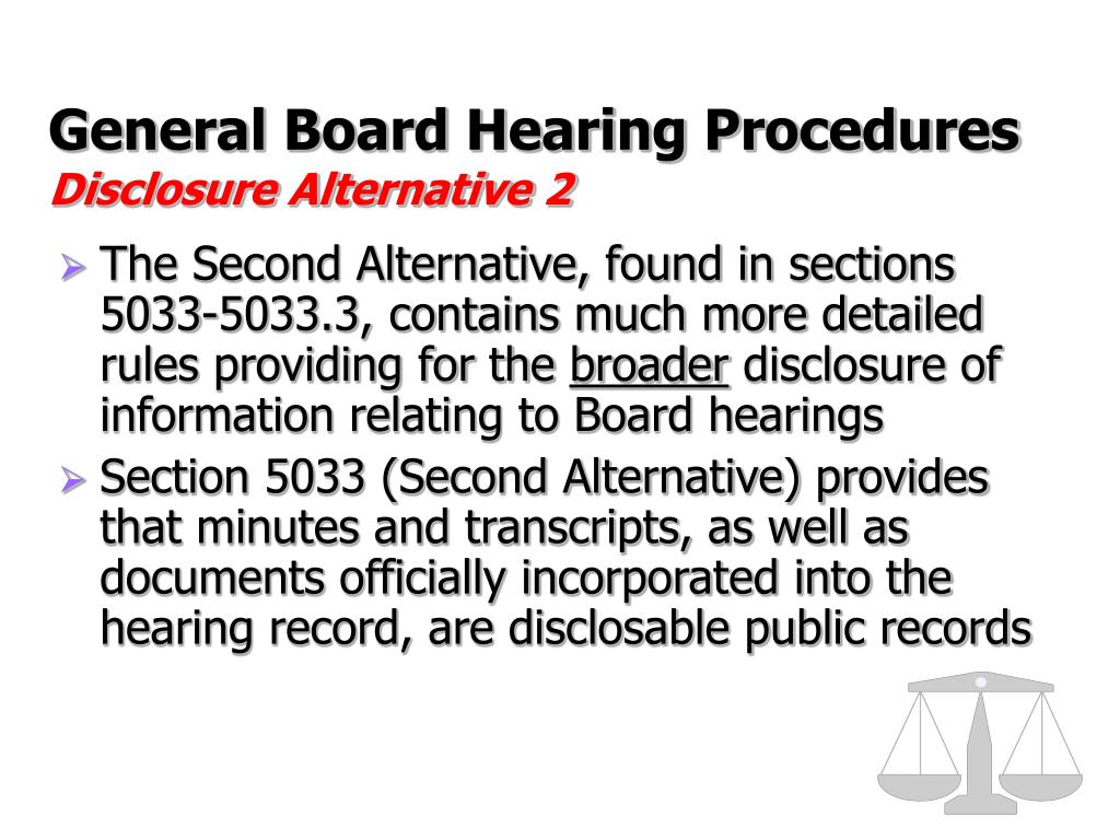 General Board Hearing Procedures