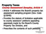 property taxes county assessment samples article 4