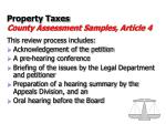 property taxes county assessment samples article 433