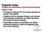 property taxes petitions for equalization of gov t owned property29