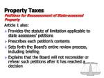 property taxes petitions for reassessment of state assessed property