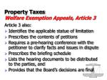 property taxes welfare exemption appeals article 331