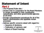statement of intent part 110