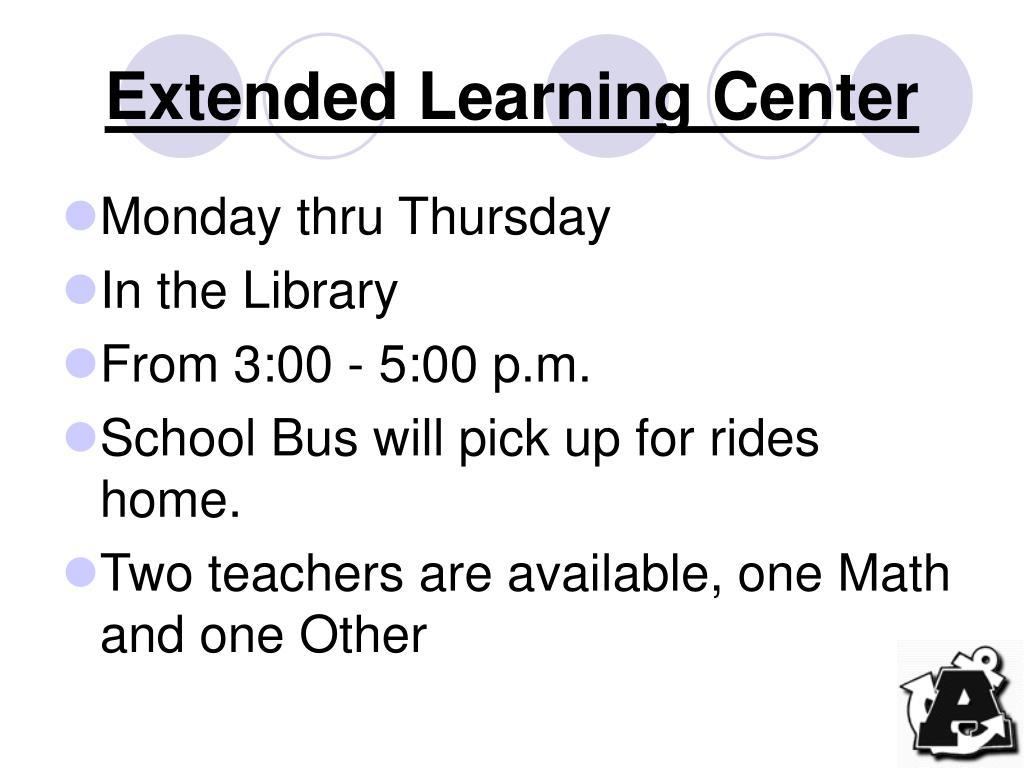 Extended Learning Center