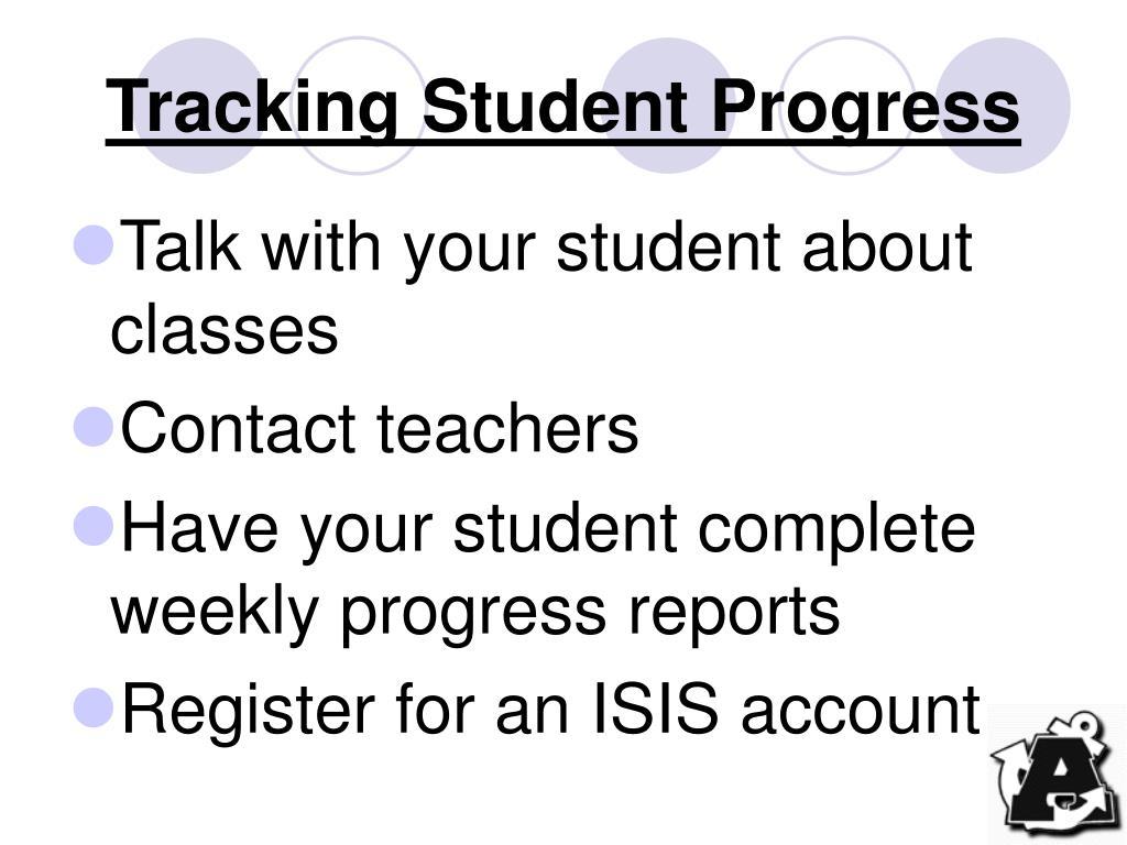 Tracking Student Progress