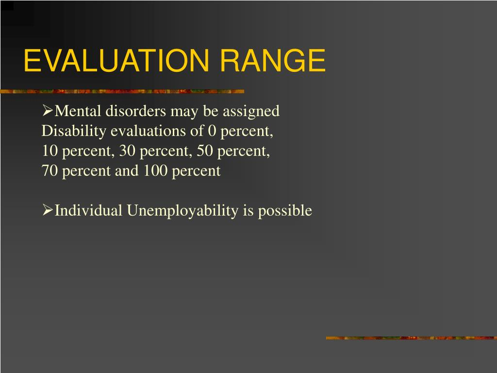 EVALUATION RANGE