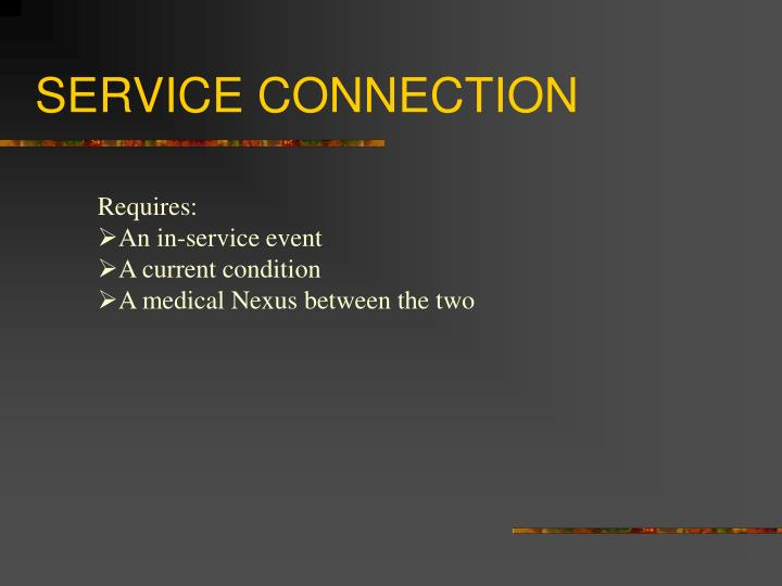 Service connection