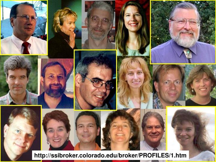 http://ssibroker.colorado.edu/broker/PROFILES/1.htm