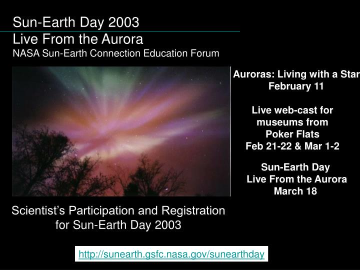 Sun-Earth Day 2003