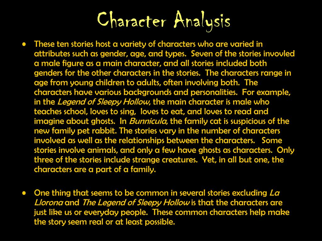 Character Analysis