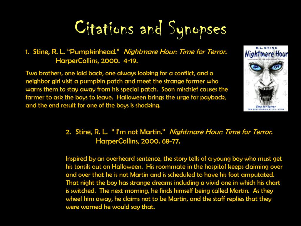 Citations and Synopses