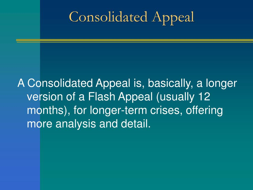 Consolidated Appeal