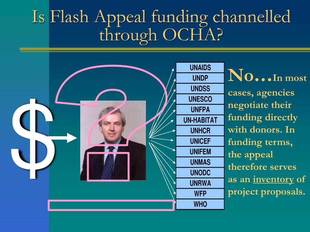 Is Flash Appeal funding channelled through OCHA?