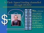 is flash appeal funding channelled through ocha