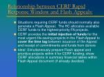 relationship between cerf rapid response window and flash appeals