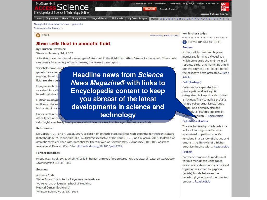 Headline news from