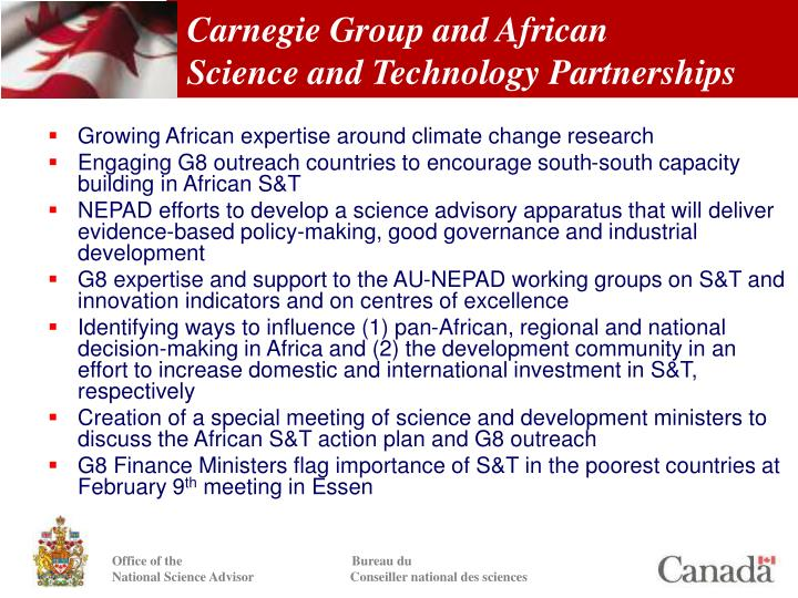 Carnegie Group and African