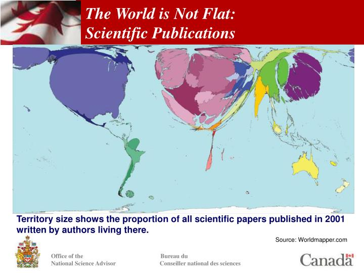 The world is not flat scientific publications