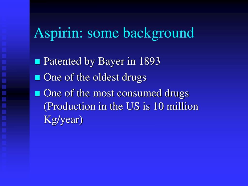 Aspirin: some background