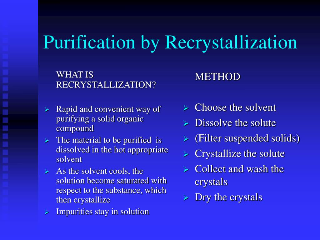 WHAT IS RECRYSTALLIZATION?