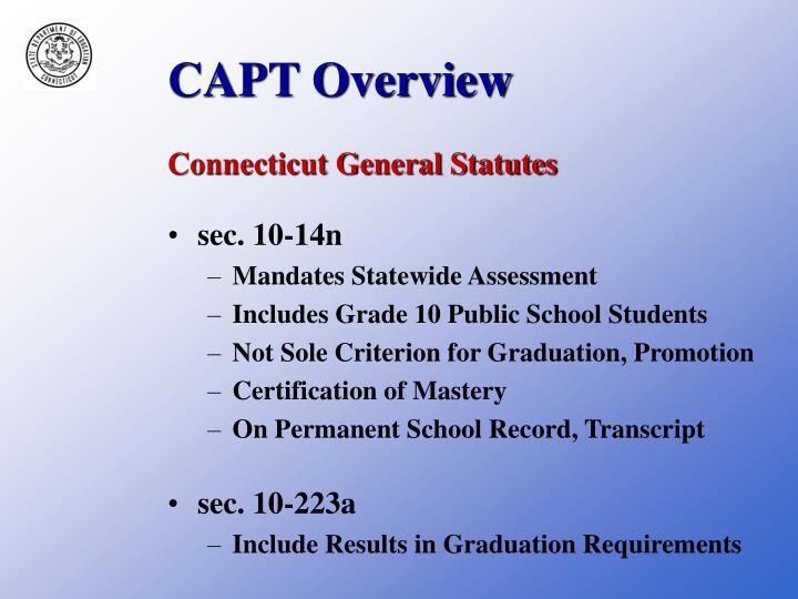 CAPT Overview
