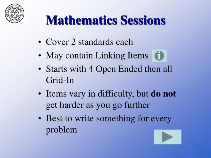 Mathematics Sessions