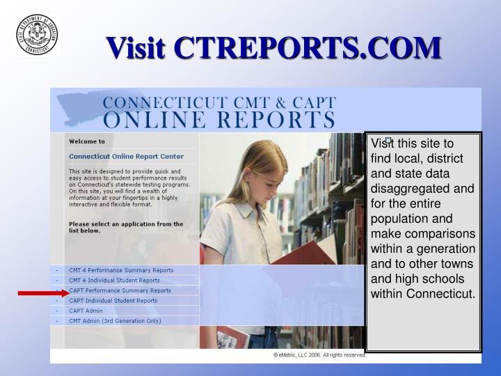 Visit CTREPORTS.COM