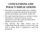 conclusions and policy implications