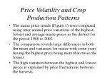price volatility and crop production patterns