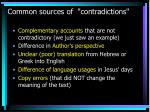 common sources of contradictions