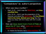 contradictions by author s perspectives11