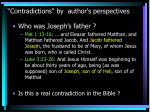 contradictions by author s perspectives13