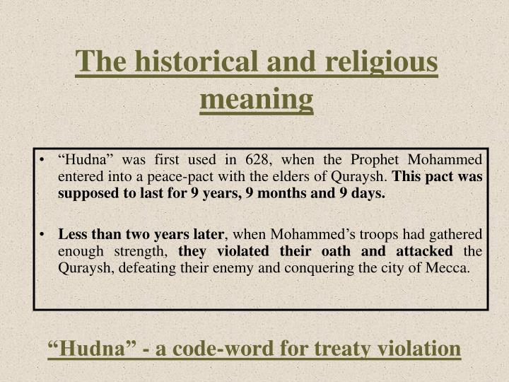 The historical and religious meaning